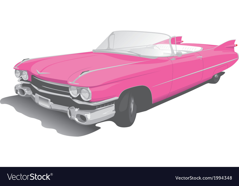 Pink convertible vector | Price: 1 Credit (USD $1)
