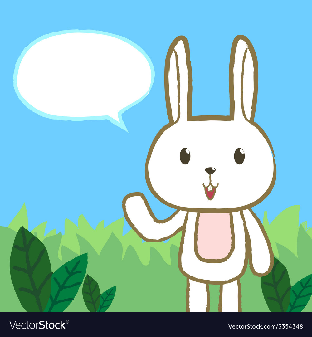 Rabbit said vector | Price: 1 Credit (USD $1)