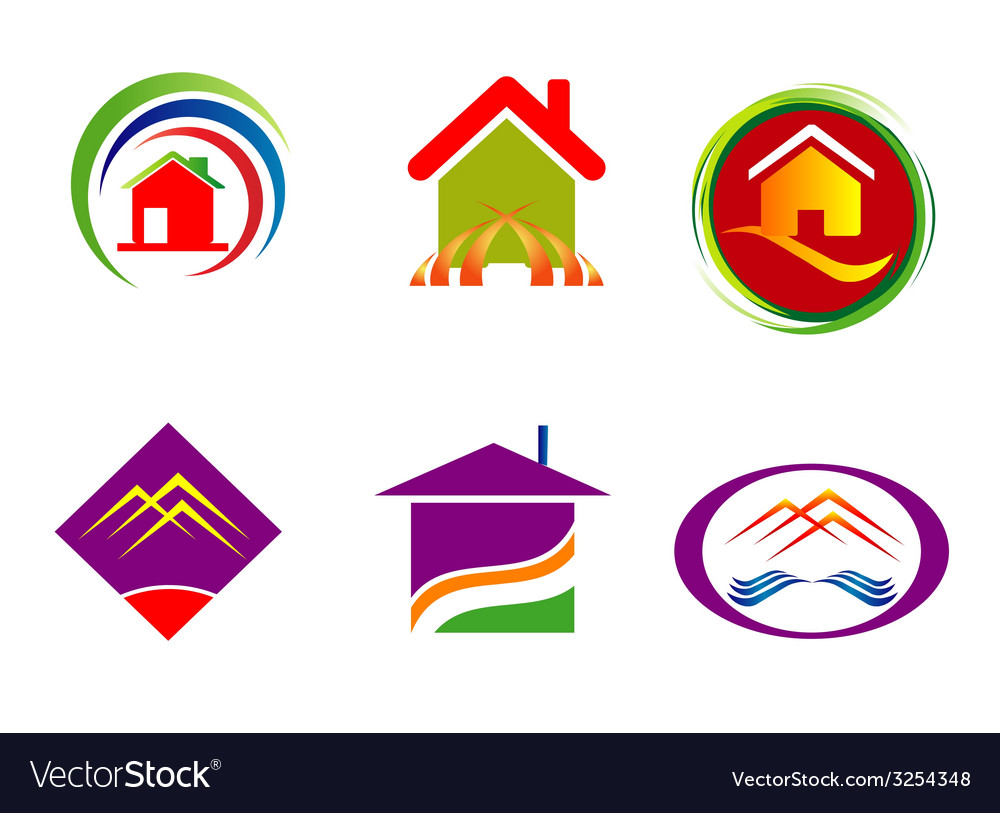 Real estate corporate logo company sign set templa vector | Price: 1 Credit (USD $1)