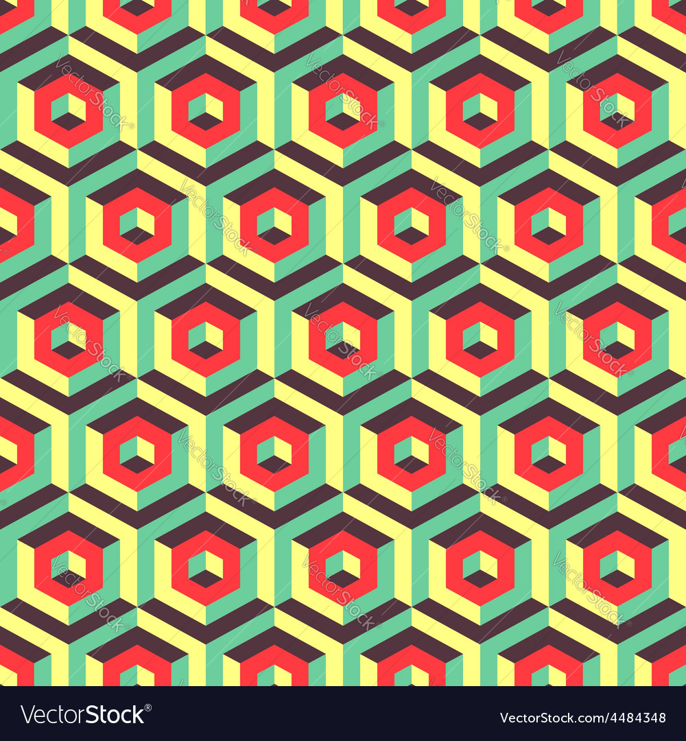 Seamless abstract 3d background with hexagonal vector | Price: 1 Credit (USD $1)