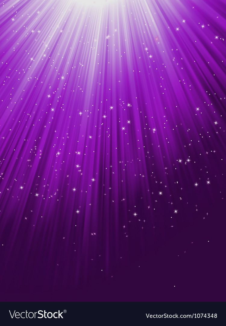 Snow and stars are falling on purple rays eps 8 vector | Price: 1 Credit (USD $1)