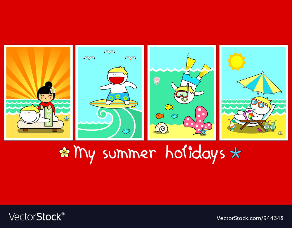 Summer holidays vector | Price: 3 Credit (USD $3)