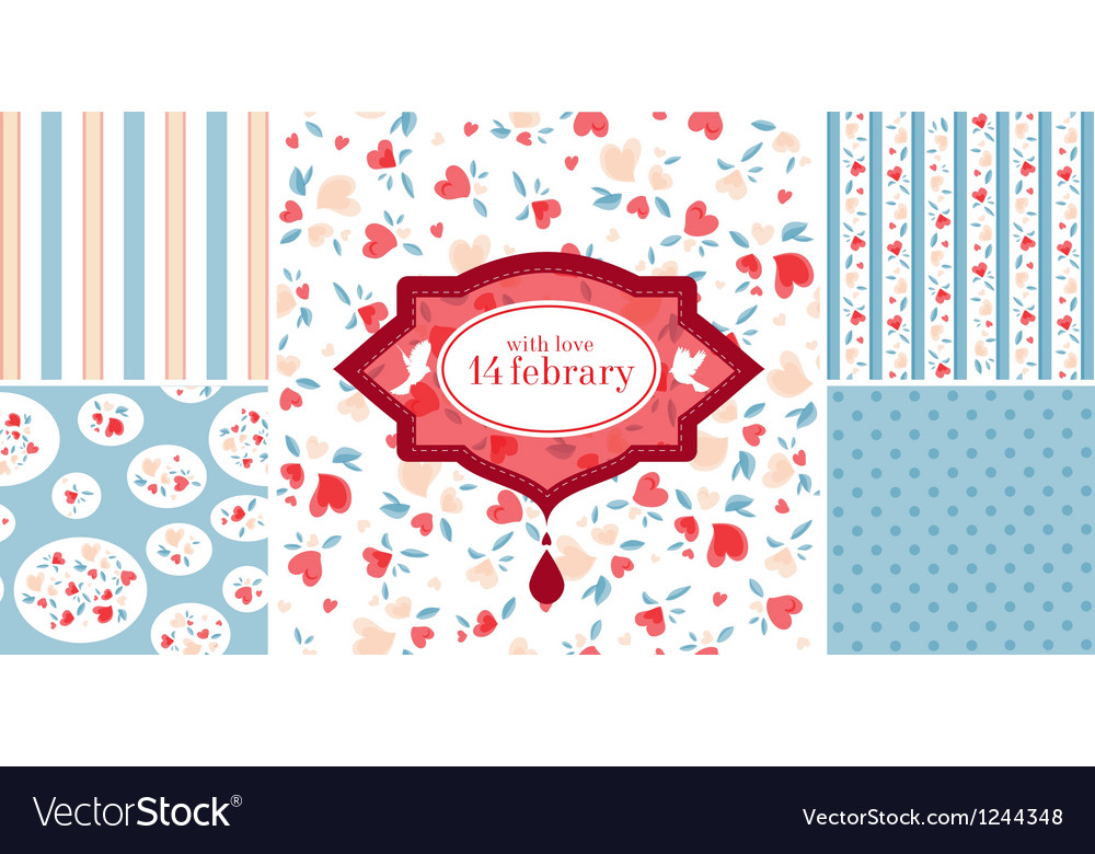 Valentines patterns vector   Price: 1 Credit (USD $1)