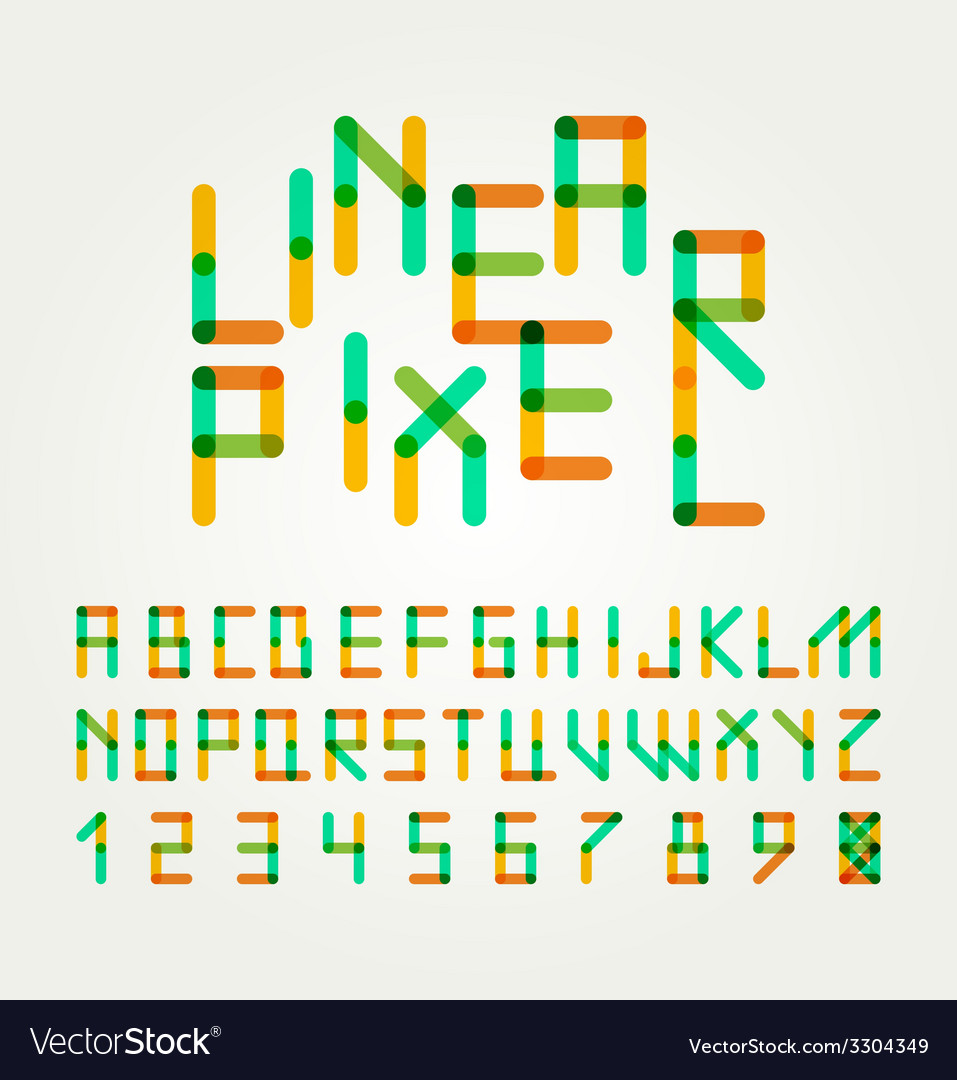 Alphabet letters design vector | Price: 1 Credit (USD $1)