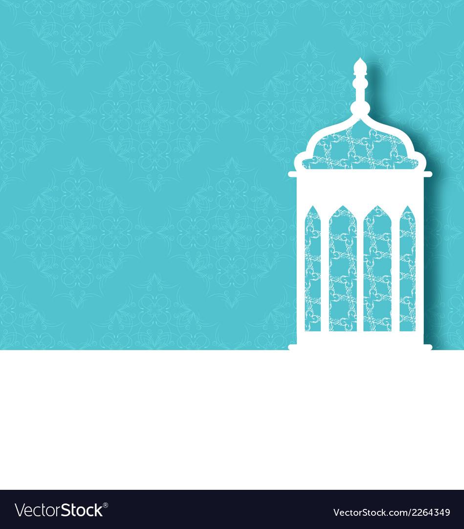 Arabic ornamental lamp for ramadan kareem vector | Price: 1 Credit (USD $1)