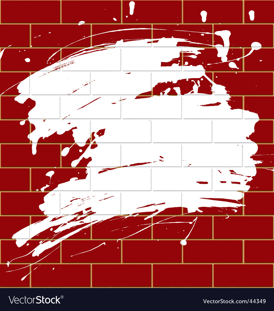Blot on a brick wall vector | Price: 1 Credit (USD $1)