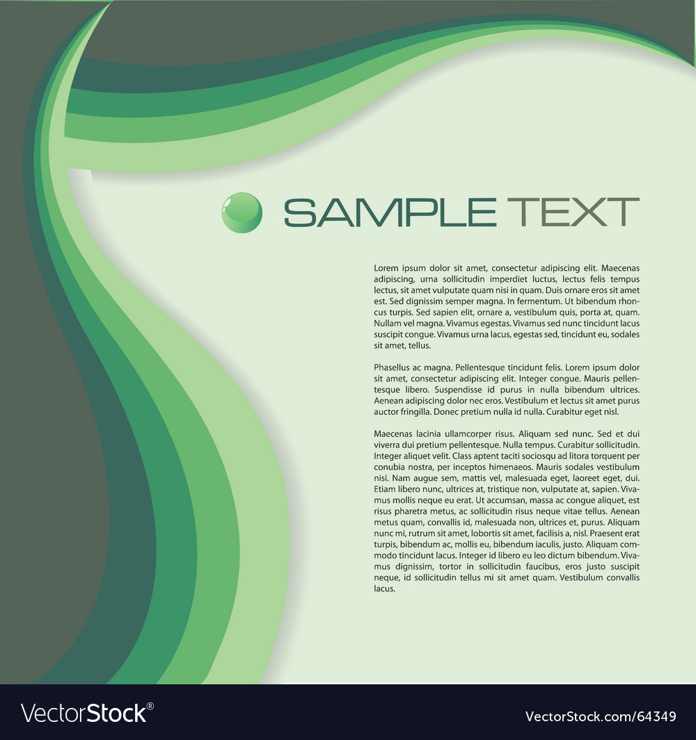 Brochure green vector | Price: 1 Credit (USD $1)