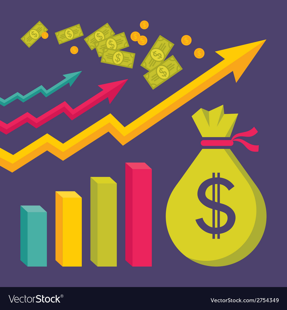 Business dollar trend graphics vector | Price: 1 Credit (USD $1)