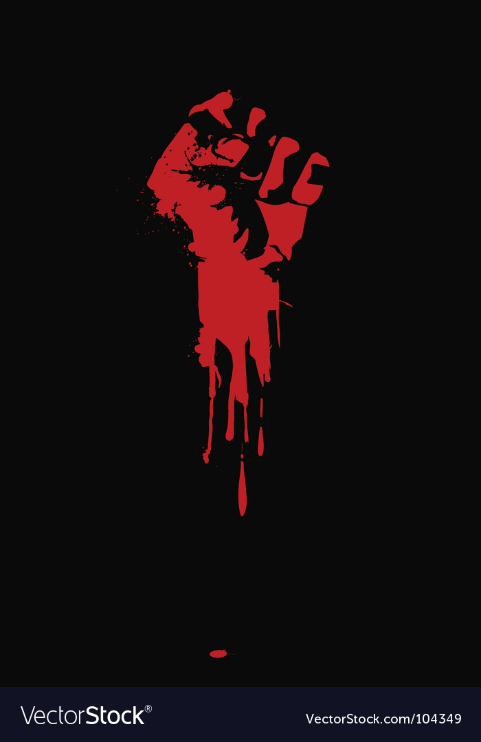 Clenched fist vector | Price: 1 Credit (USD $1)