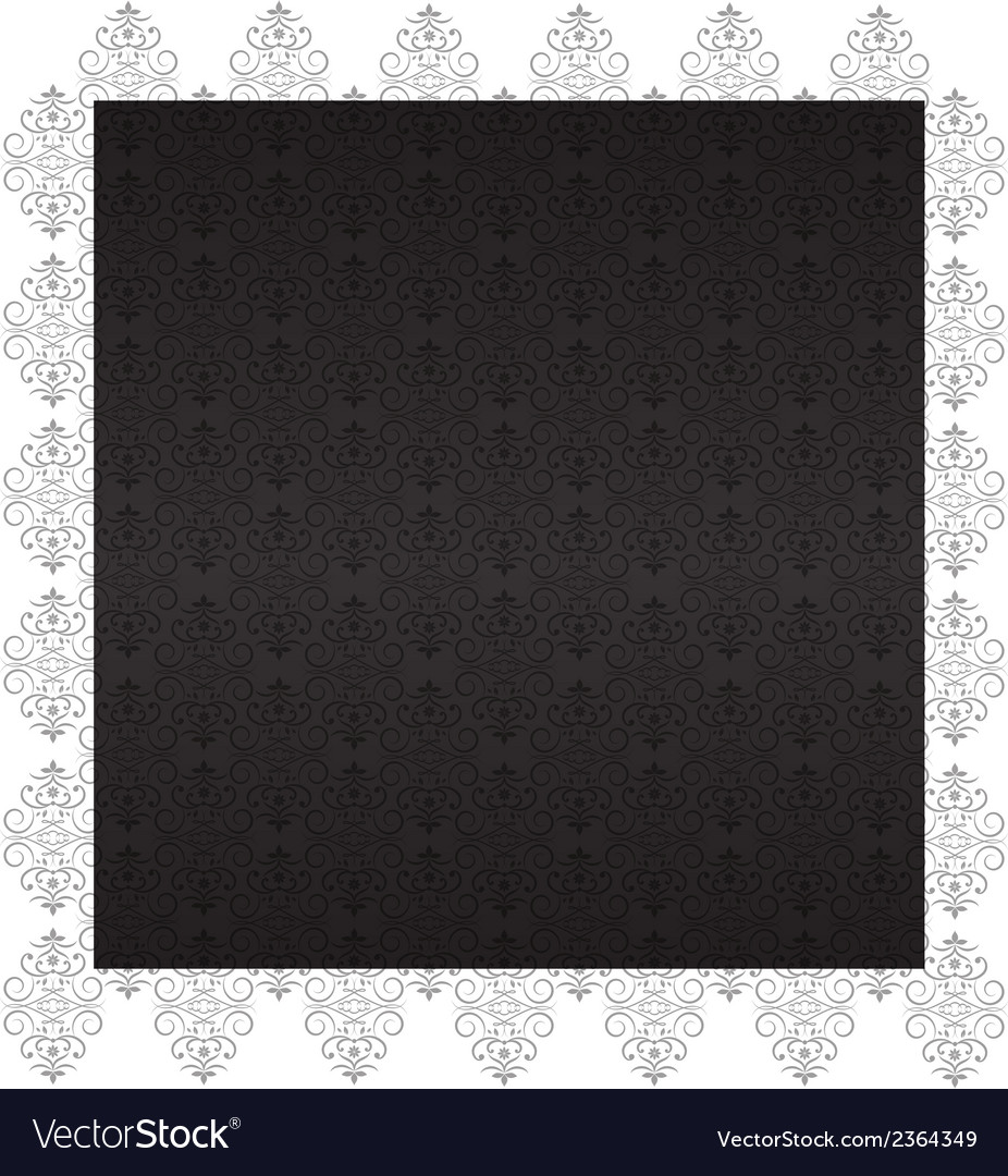 Decorative charcoal wallpaper with ornaments vector | Price: 1 Credit (USD $1)