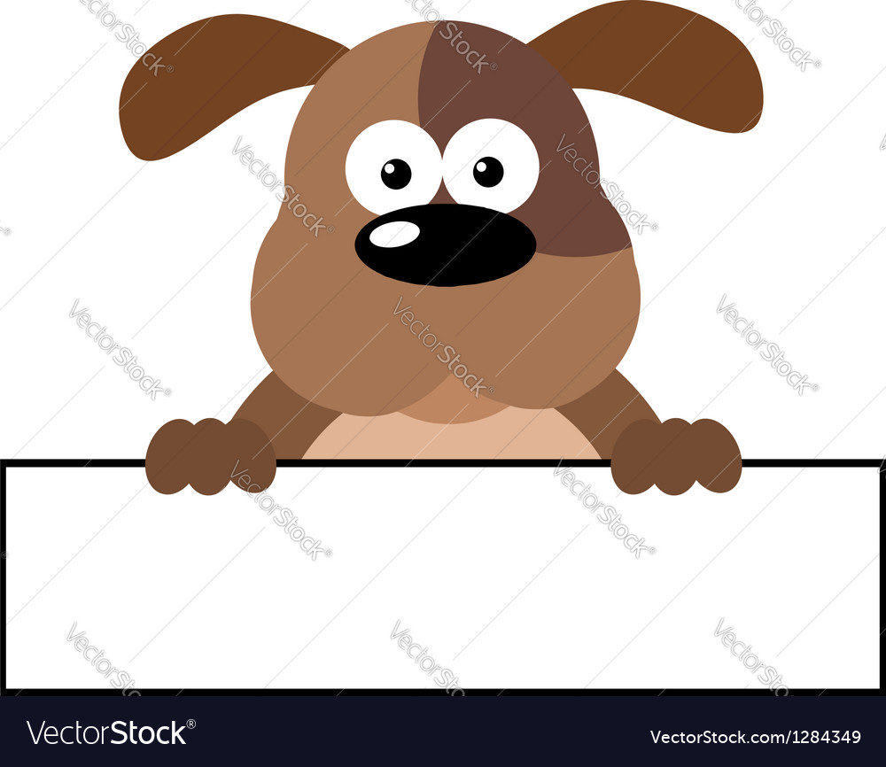 Dog over a banner vector | Price: 1 Credit (USD $1)