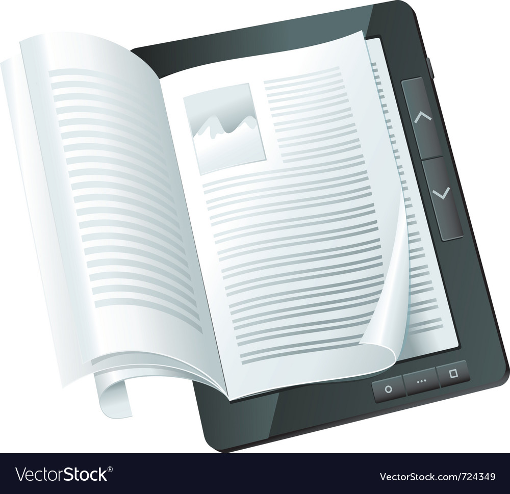 Electronic book concept - vector | Price: 3 Credit (USD $3)