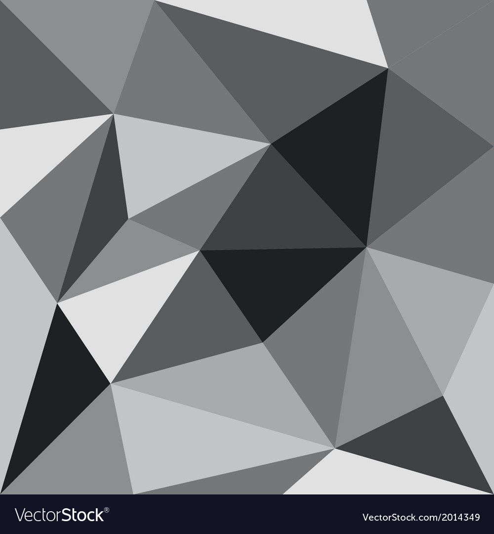 Grey flat triangle background or seamless pattern vector | Price: 1 Credit (USD $1)