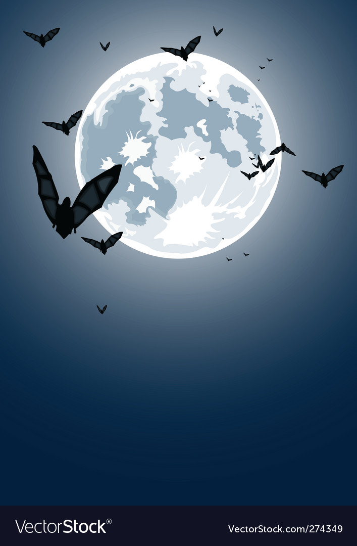 Halloween night with moon vector | Price: 1 Credit (USD $1)