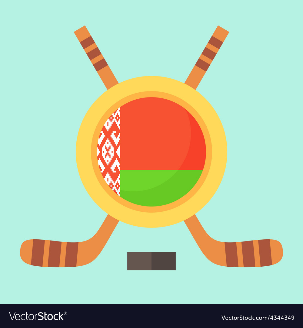 Hockey in belarus vector | Price: 1 Credit (USD $1)