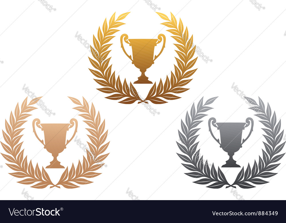 Laurel wreath with trophy vector | Price: 1 Credit (USD $1)