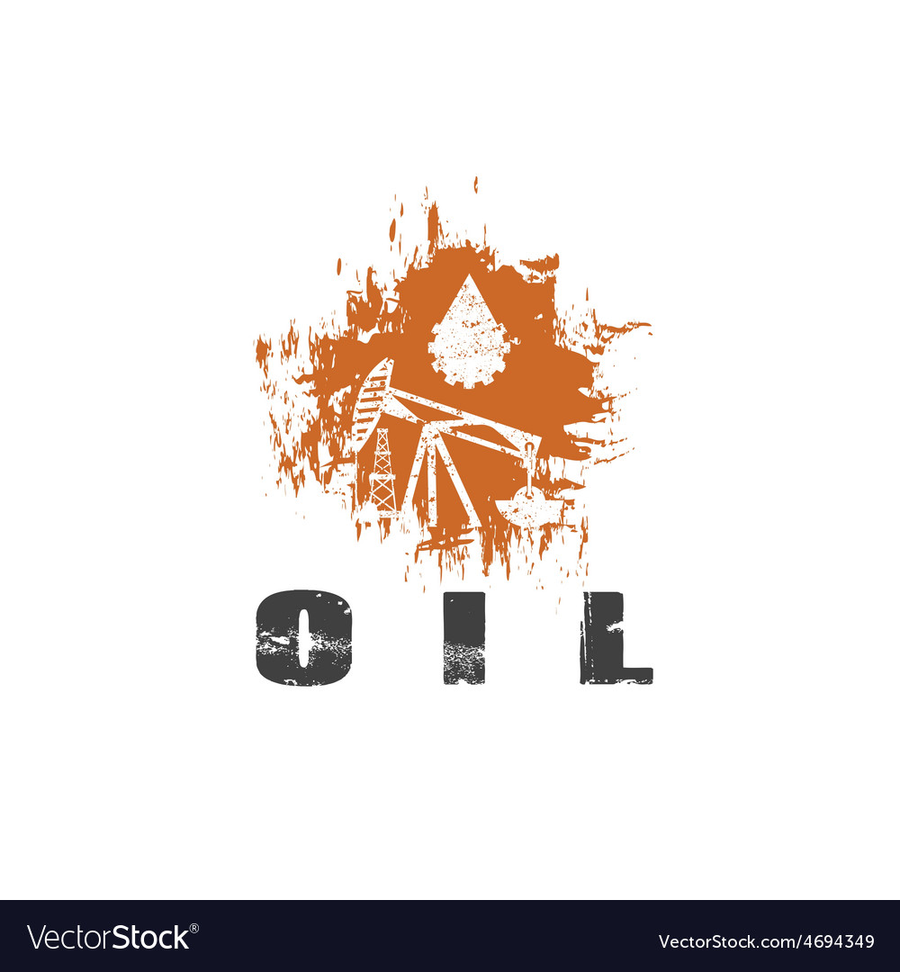 Oil industry grunge design template vector | Price: 1 Credit (USD $1)