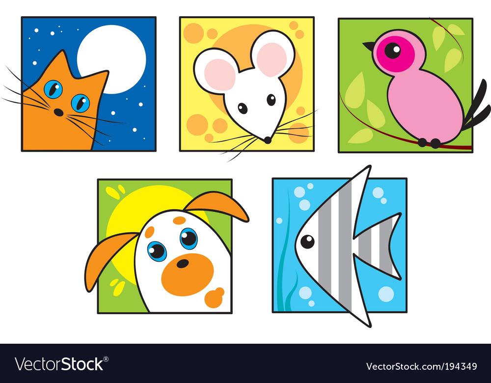 Set of pets vector