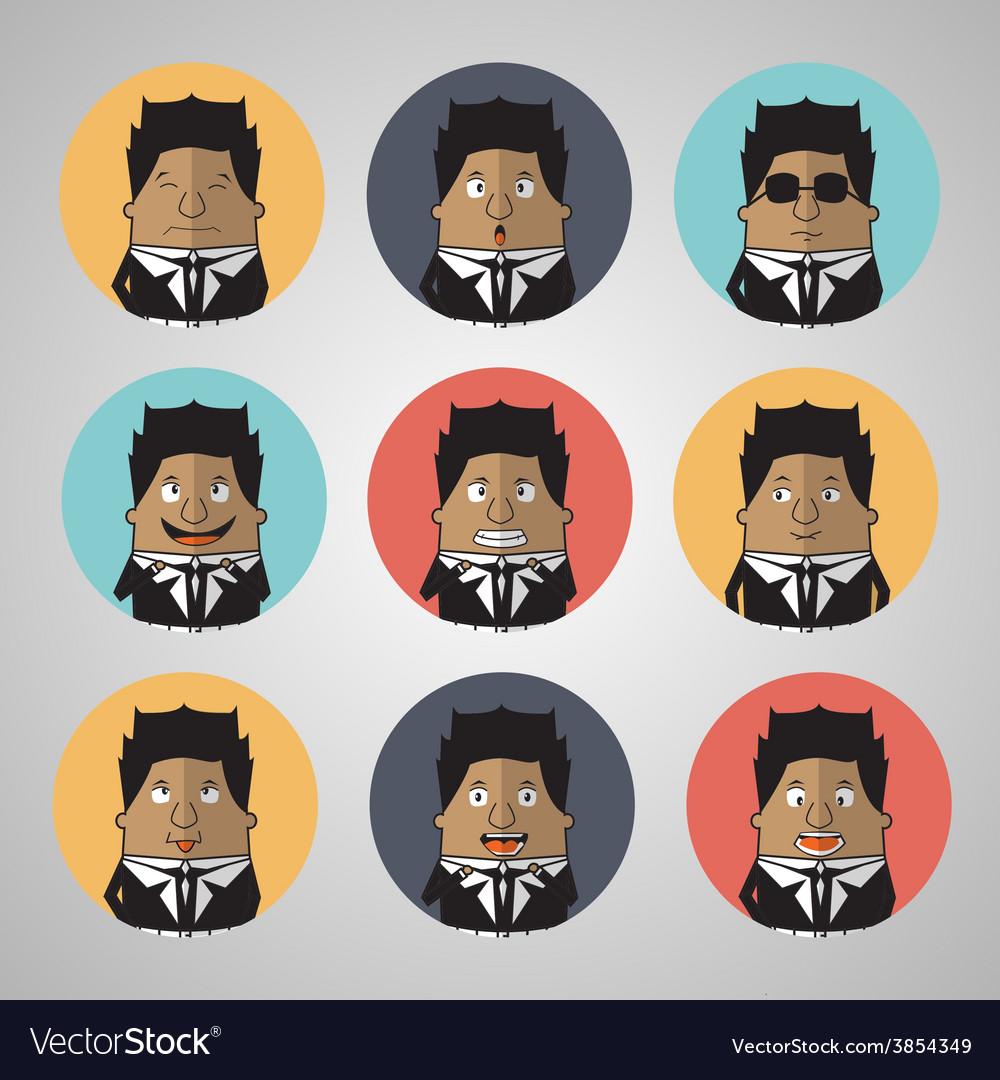 Vintage businessman emotion vector | Price: 1 Credit (USD $1)