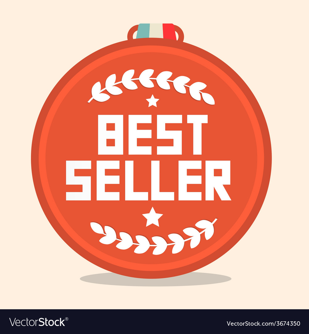 Best seller circle retro medal vector | Price: 1 Credit (USD $1)