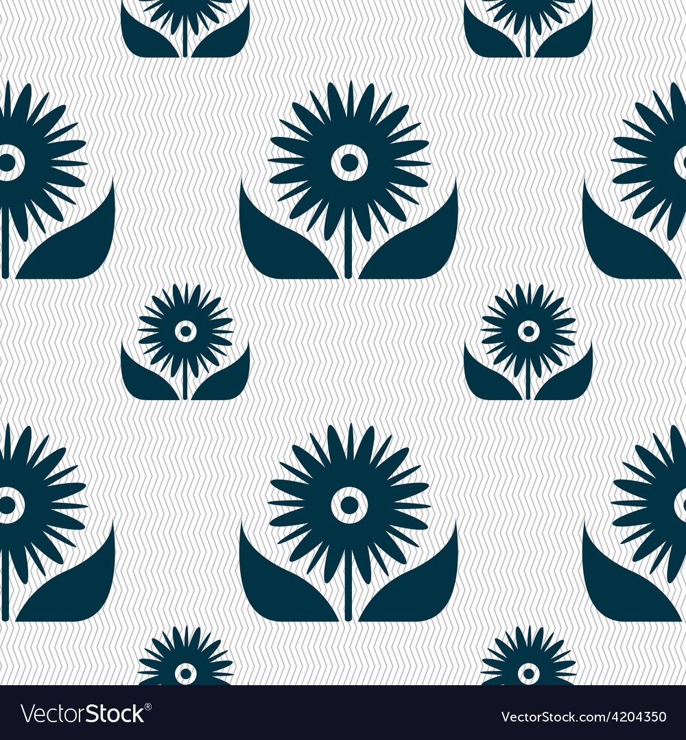 Bouquet of flowers with petals icon sign seamless vector   Price: 1 Credit (USD $1)