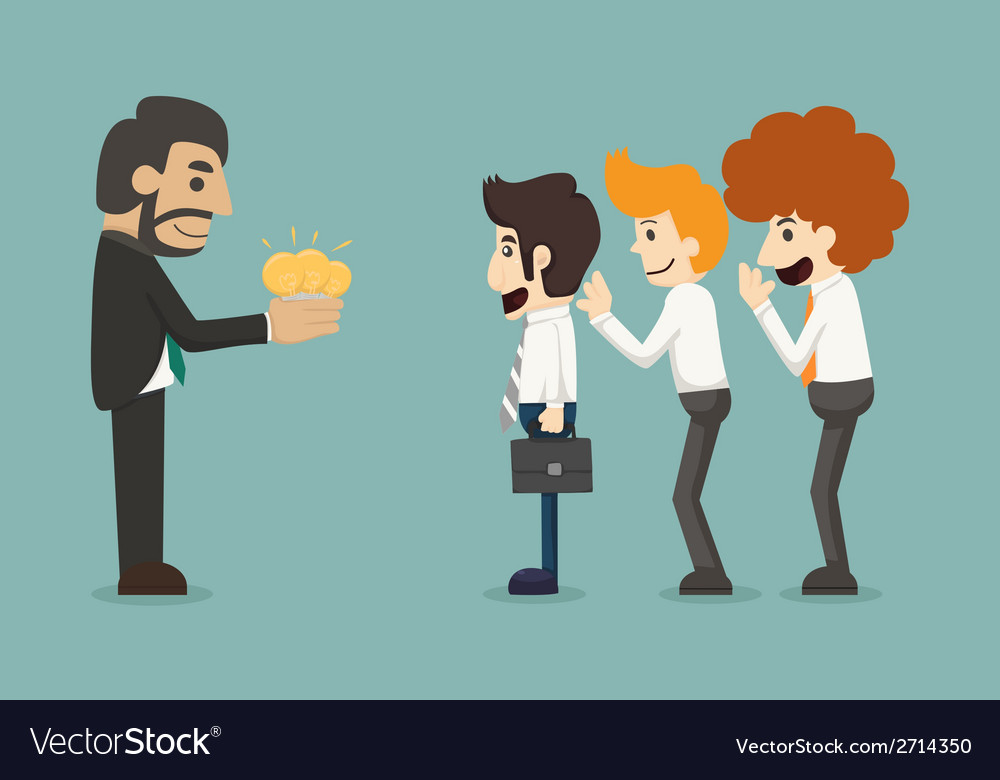 Businessman share idea vector | Price: 1 Credit (USD $1)