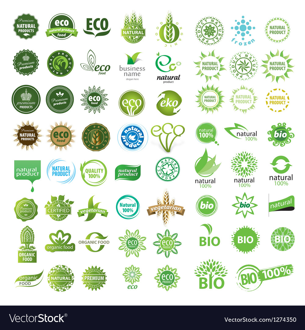 Collection of eco sign vector | Price: 3 Credit (USD $3)