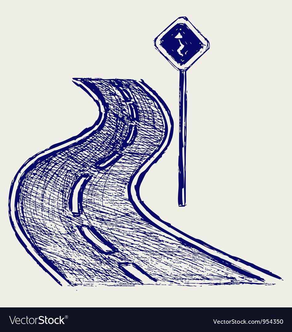 Curve road vector | Price: 1 Credit (USD $1)