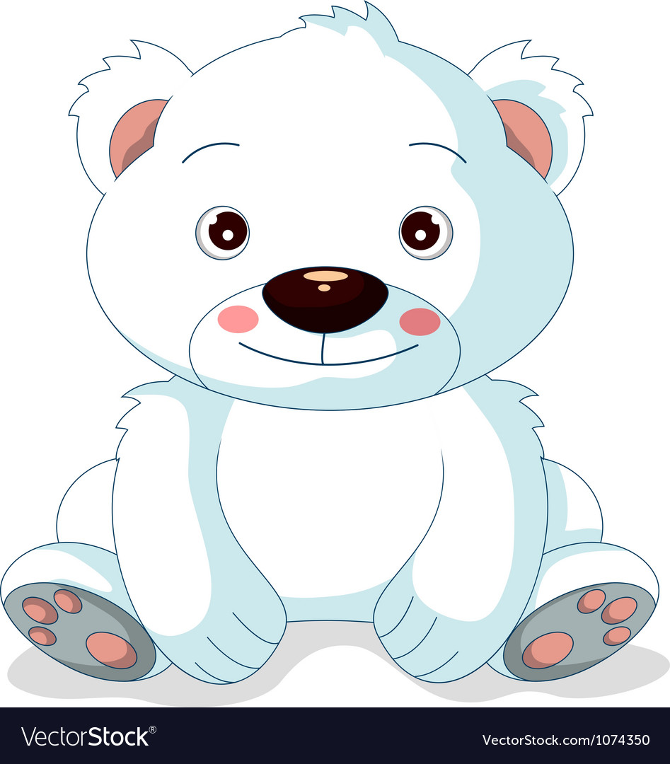 Cute polar bear cartoon vector | Price: 1 Credit (USD $1)