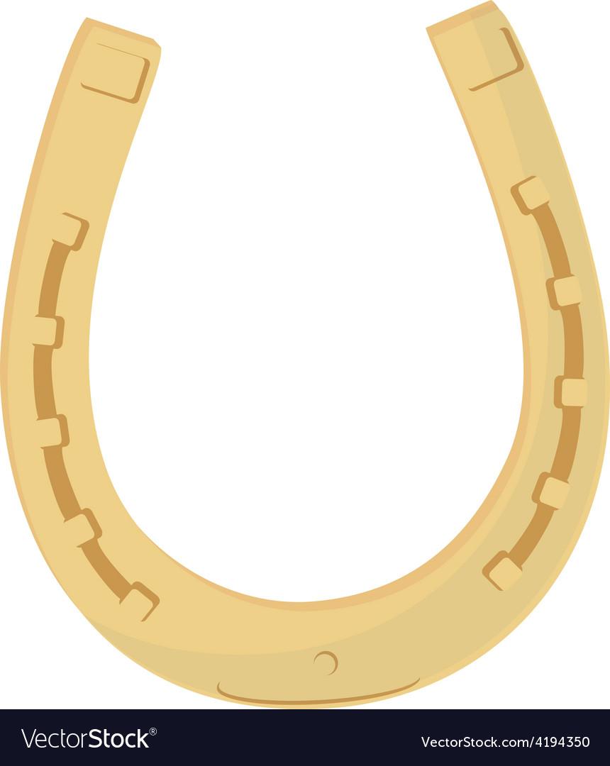 Golden horse shoe vector | Price: 1 Credit (USD $1)