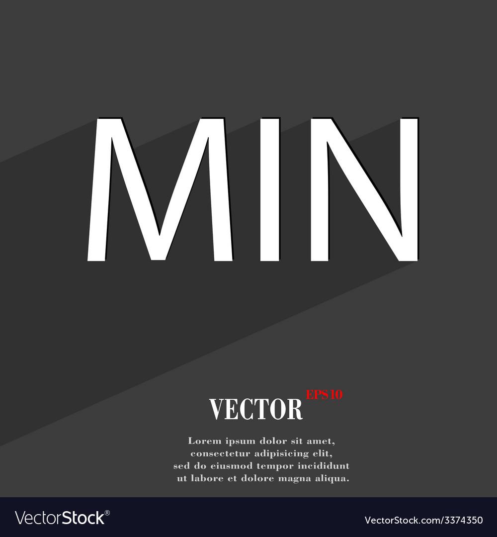 Minimum icon symbol flat modern web design with vector | Price: 1 Credit (USD $1)