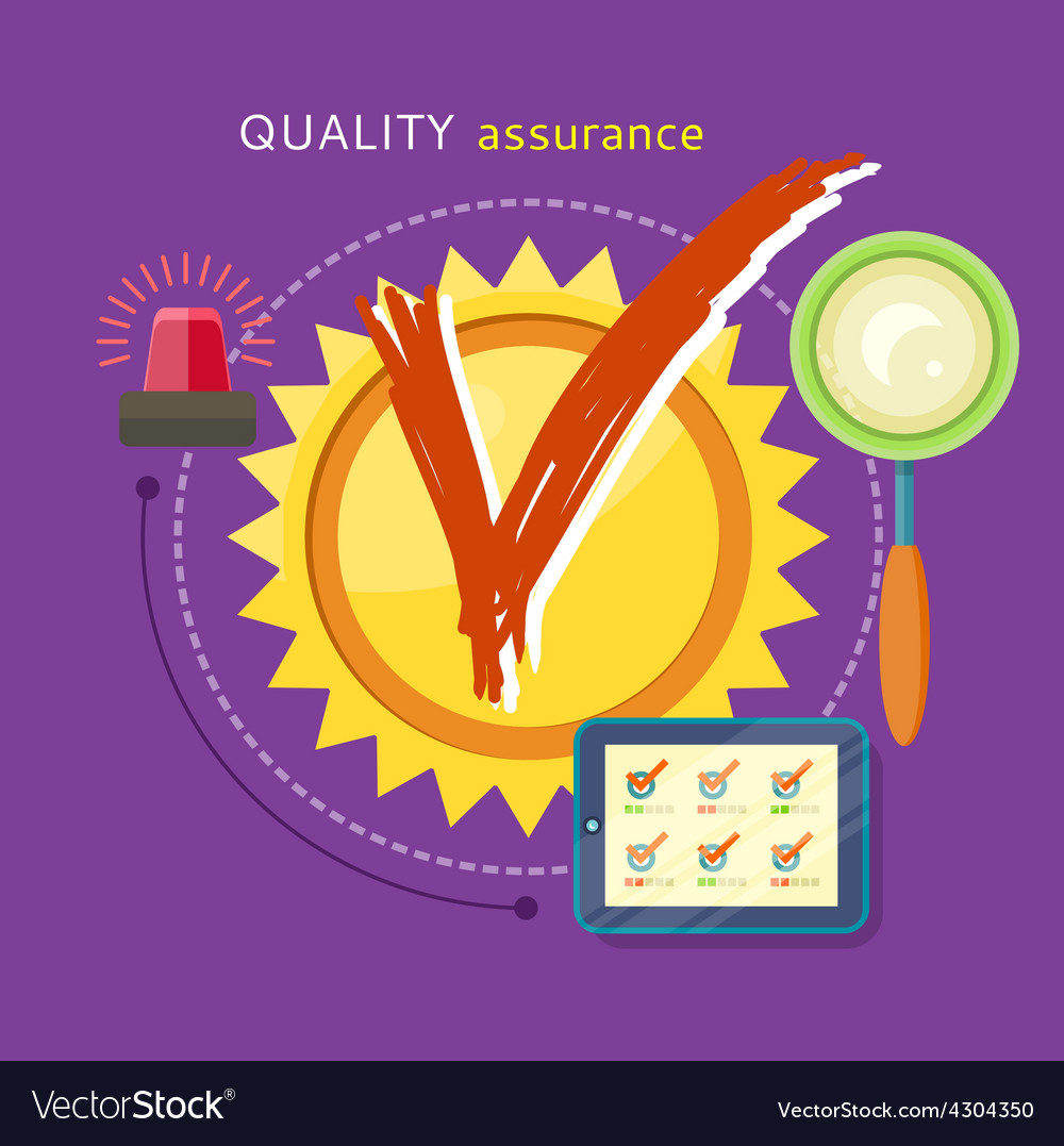 Quality assured concept vector | Price: 1 Credit (USD $1)