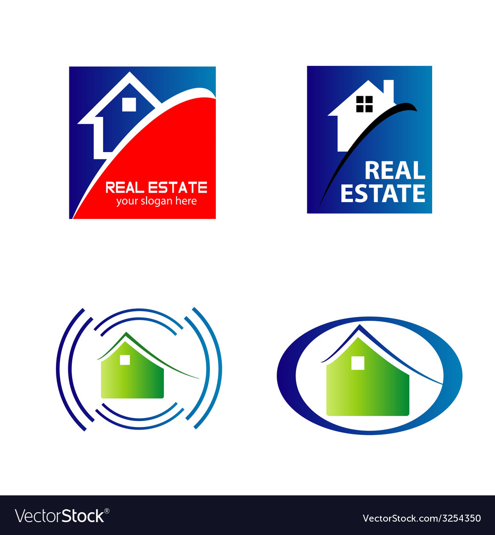 Real estate and construction icons logos vector | Price: 1 Credit (USD $1)