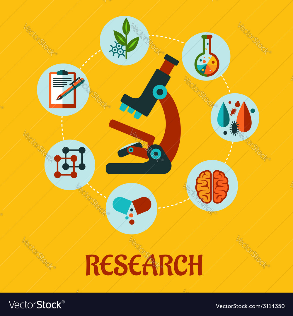 Research flat infographic vector | Price: 1 Credit (USD $1)