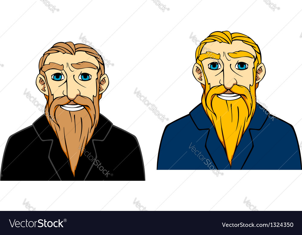 Senior man with beard vector | Price: 1 Credit (USD $1)