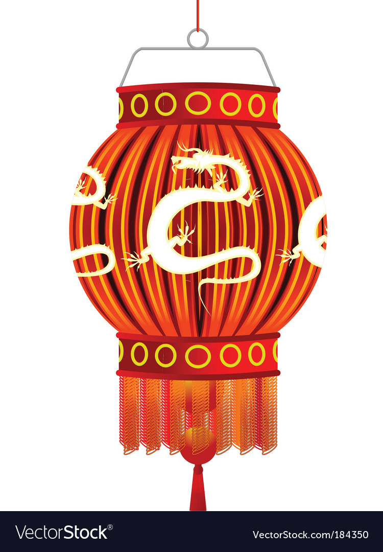 Traditional chinese lantern vector | Price: 1 Credit (USD $1)