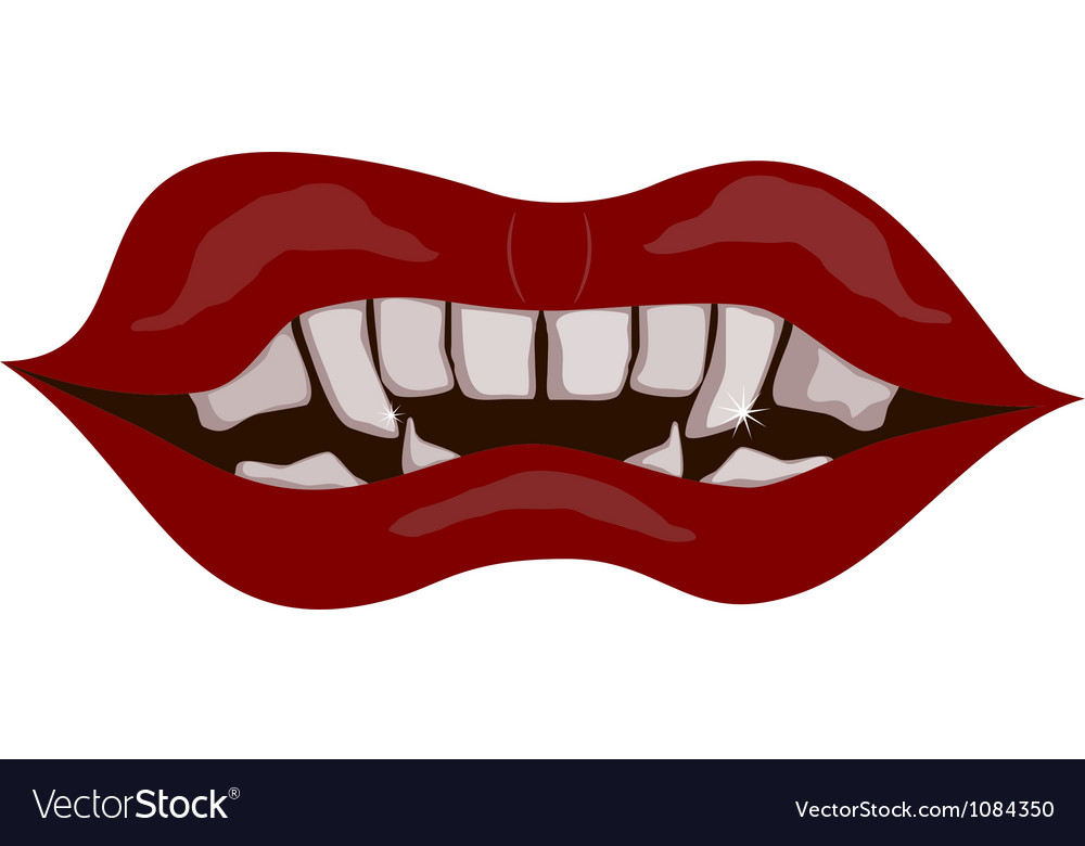 Vampire mouth eps10 vector | Price: 1 Credit (USD $1)