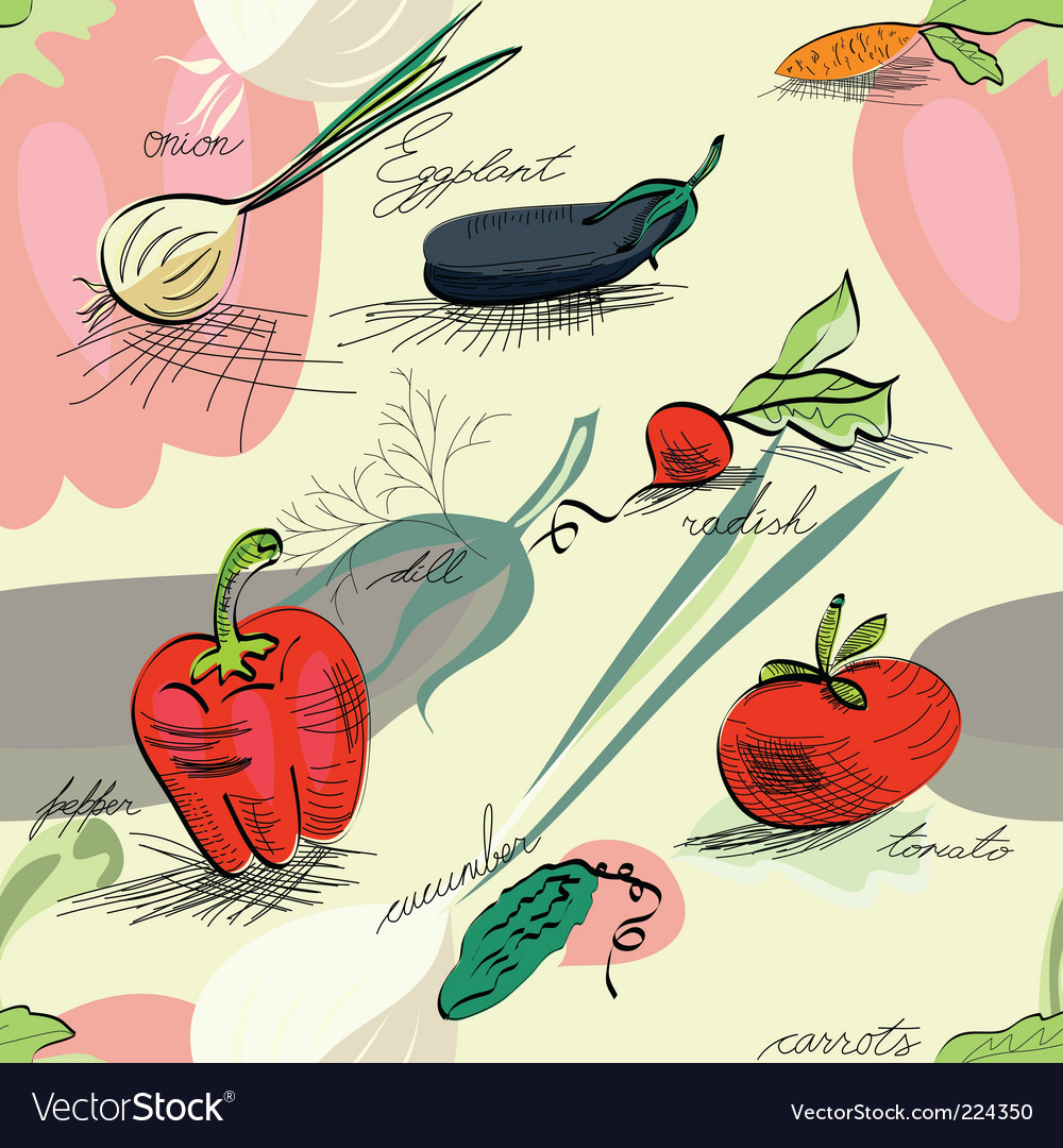 Wallpaper with vegetables vector | Price: 1 Credit (USD $1)