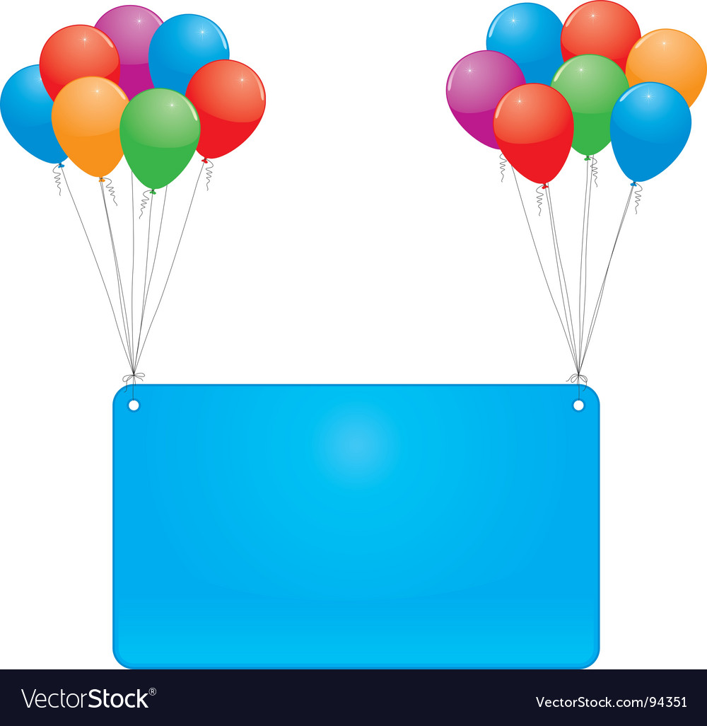 Celebrate balloons and banner vector | Price: 1 Credit (USD $1)