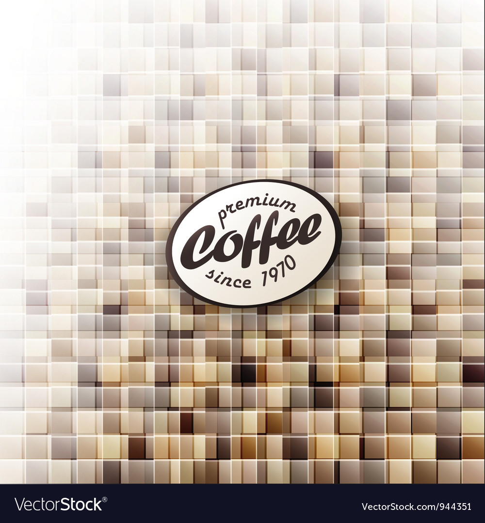 Coffee themed abstract design template vector | Price: 1 Credit (USD $1)