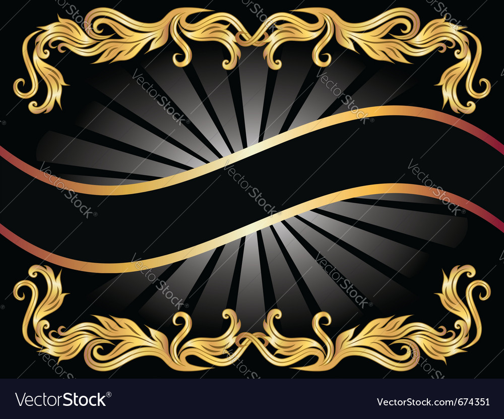 Golden ornament vector | Price: 3 Credit (USD $3)