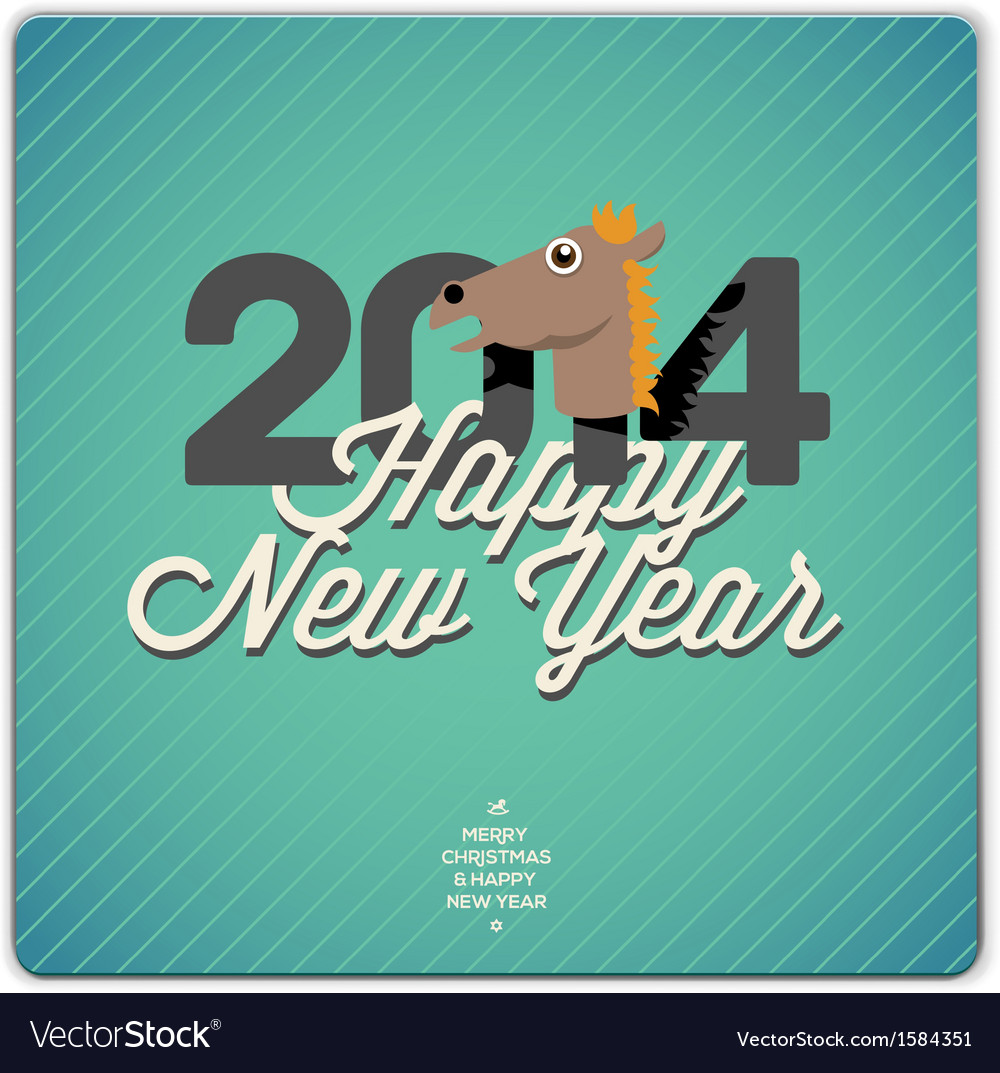 Happy new year card 2014 vector | Price: 1 Credit (USD $1)