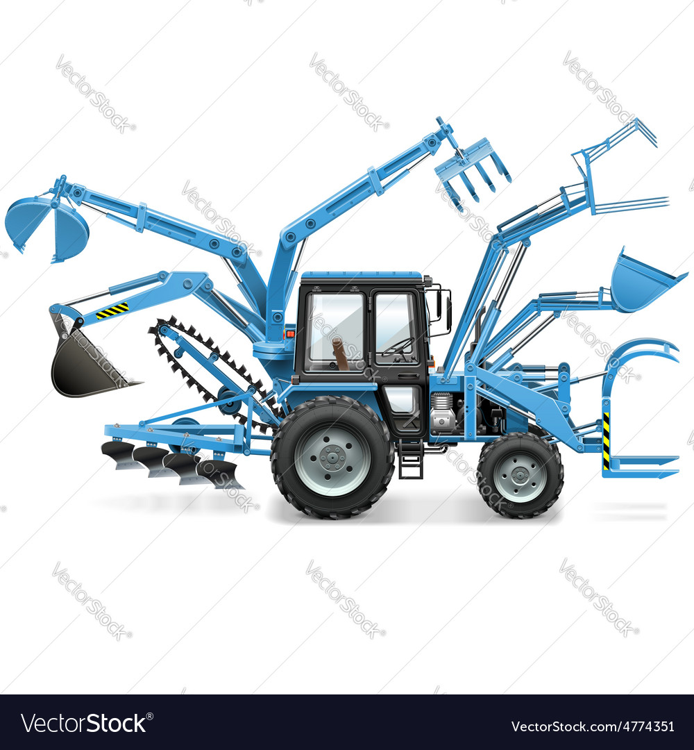 Multi tractor vector | Price: 3 Credit (USD $3)