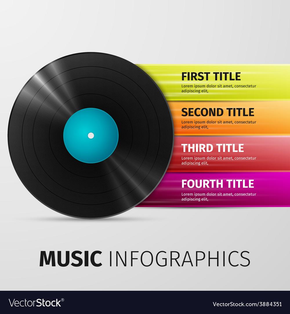 Music infographics vector   Price: 1 Credit (USD $1)