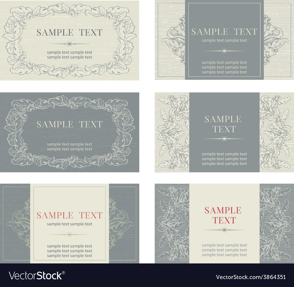 Set of templates for business cards vector | Price: 1 Credit (USD $1)
