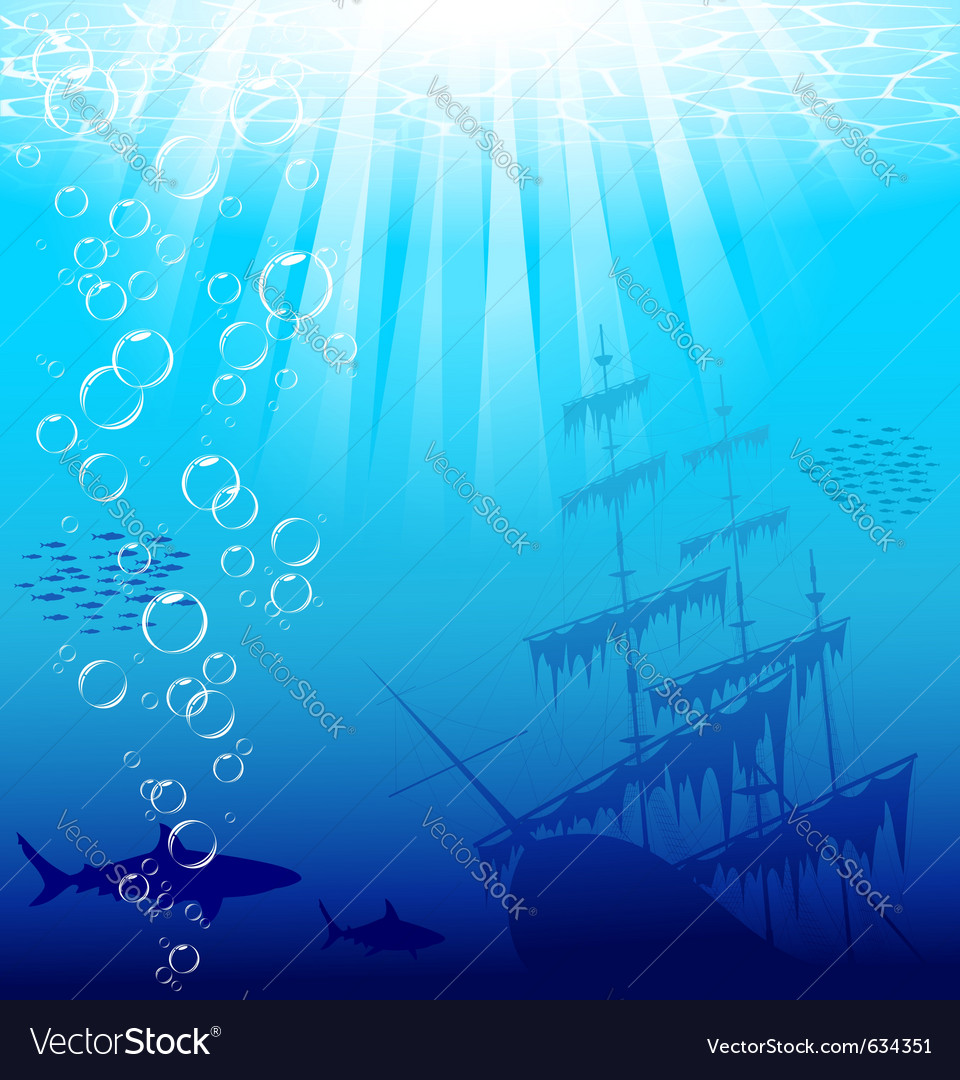 Underwater world vector | Price: 1 Credit (USD $1)