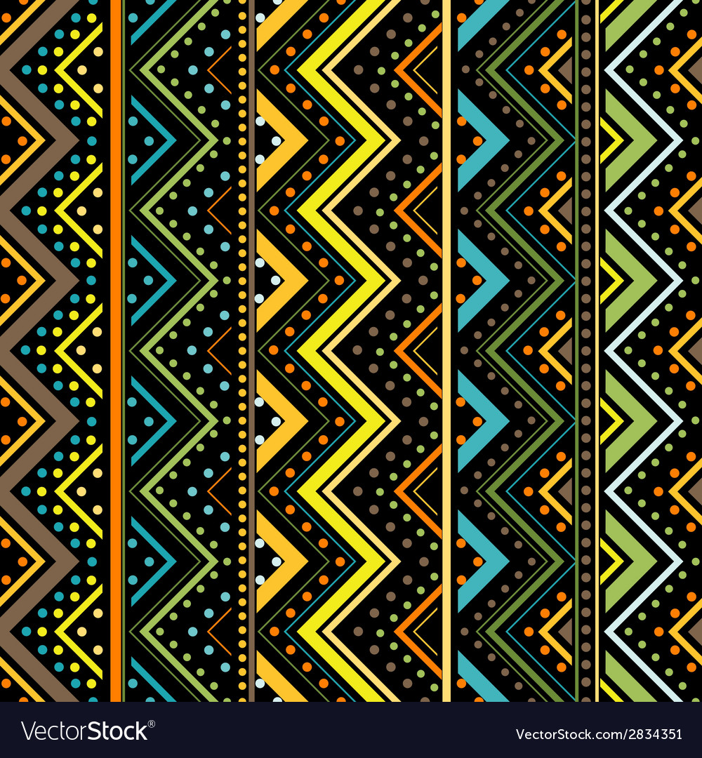 Vertical zig zag made by dots and lines seamless vector | Price: 1 Credit (USD $1)