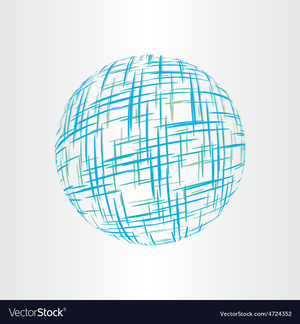 Abstract globe earth technology icon vector | Price: 1 Credit (USD $1)