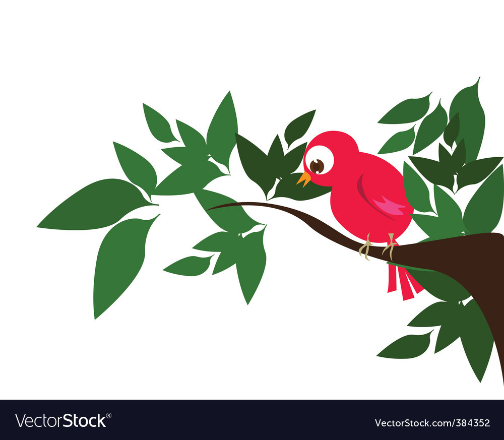 Bird in nature vector | Price: 1 Credit (USD $1)