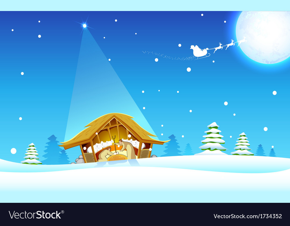 Birth of jesus vector | Price: 1 Credit (USD $1)